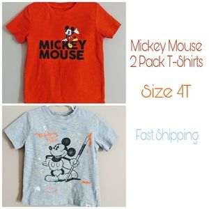 Disney Mickey Mouse TShirts 2 Pack Size 4T